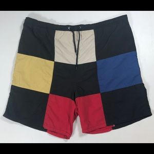 R&Y Sports vintage swim trunks shorts men's Large